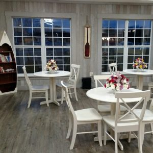 Dining room whitewashed paneling by NeverWood