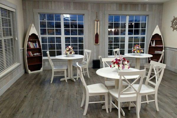 Dining room whitewashed paneling by NeverWood