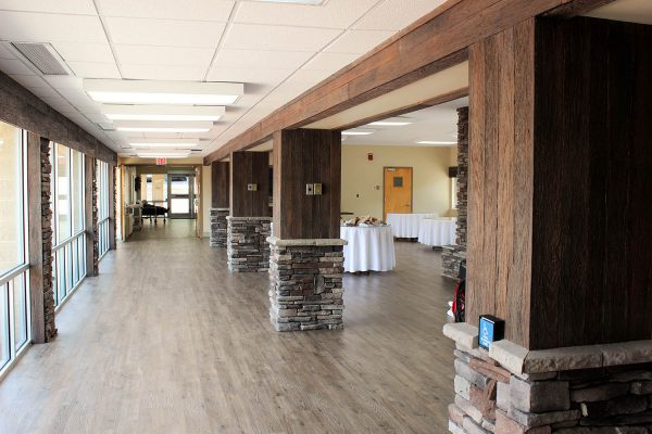Barnwood and stone columns by NeverWood